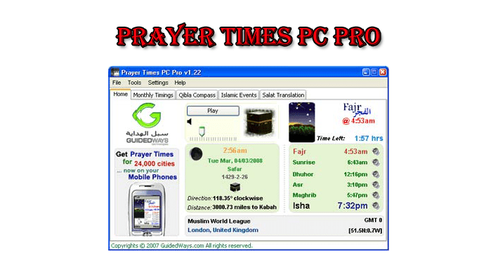 Read more about the article Prayer Times Pc Pro Desktop Software